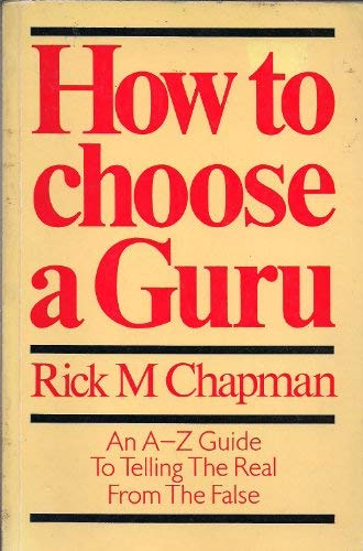 9780906008195: How to Choose a Guru