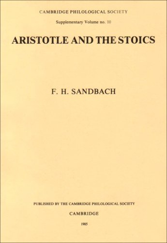 ARISTOTLE AND THE STOICS