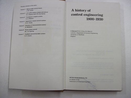 9780906048078: A History of Control Engineering, 1800-1930 (I E E Conference Publication)