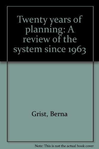 9780906120866: Twenty years of planning: A review of the system since 1963