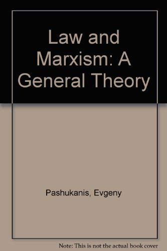 9780906133286: Law and Marxism: A General Theory