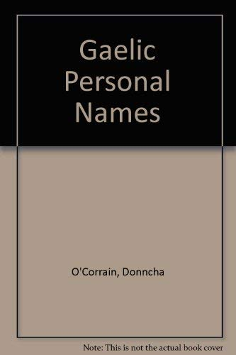 9780906187487: Gaelic Personal Names