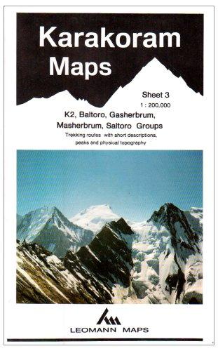 9780906227688: Karakoram Mountain Map: K2, Baltoro, Gasherbrum, Masherbrum, Saltoro Groups Sheet 3