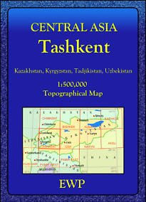 9780906227794: Tashkent 1: 500,000 Topographical Map (Central Asia Maps)