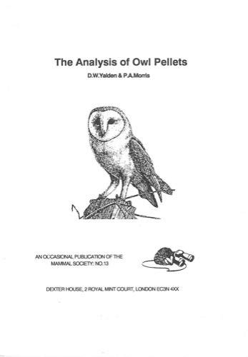 9780906282106: The Analysis of Owl Pellets