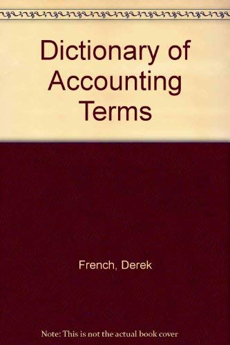 9780906322673: Dictionary of Accounting Terms