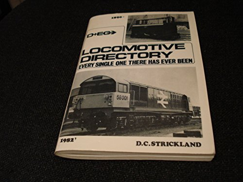 9780906375105: D & EG locomotive directory: Every single one there has ever been