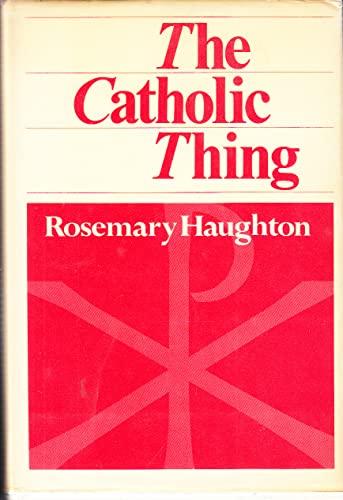9780906408223: Catholic Thing
