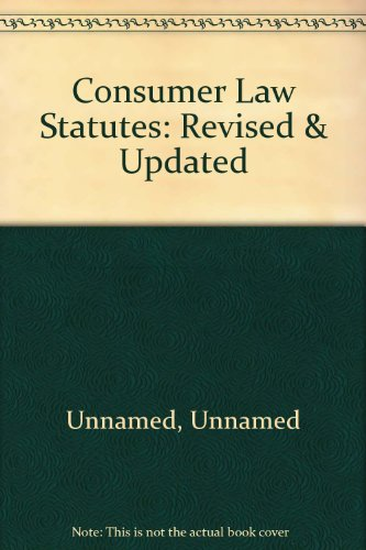 9780906533451: Consumer Law Statutes: Revised & Updated