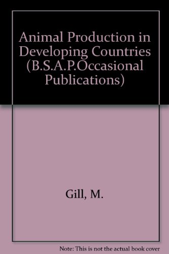 9780906562161: Animal Production in Developing Countries (B.S.A.P.Occasional Publications)