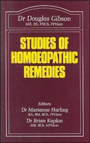 9780906584170: Studies of Homoeopathic Remedies