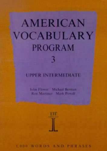 9780906717714: American Vocabulary Program 3: Upper Intermediate (Language Teaching Publications Series)