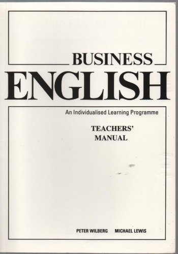 9780906717806: Business English: An Individualised Learning Programme: Teacher's Manual