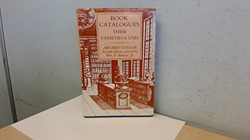 9780906795286: Book Catalogues: Their Varieties and Uses (St. Paul's Bibliographies)
