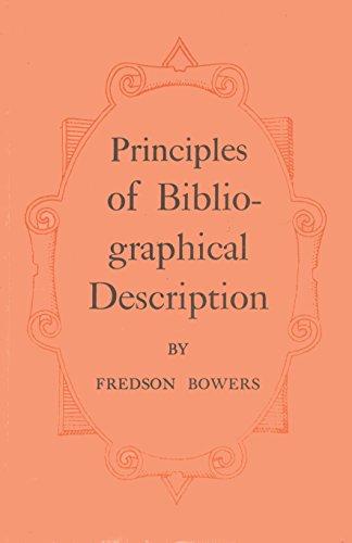 9780906795378: Principles of Bibliographical Description (St. Paul's Bibliographies, No 15)