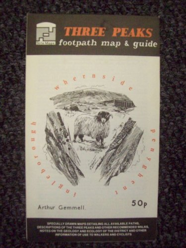9780906886083: Three Peaks Footpath Map and Guide
