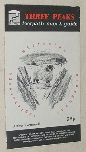 9780906886243: Three Peaks Footpath Map and Guide