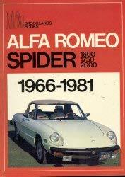 9780907073567: Alfa Romeo Spider: 1966-1981