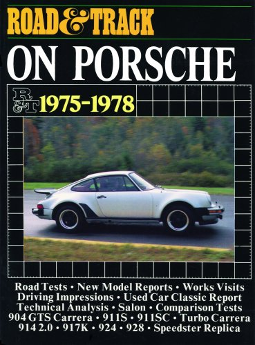 """9780907073796: """"Road & Track"""" on Porsche, 1975-78 (Brooklands Books Road Tests Series)"""