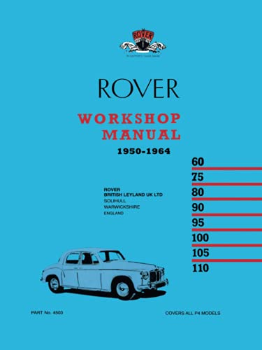 9780907073970: Rover Workshop Manual 1950-1964: Owners Manual
