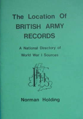 9780907099338: Location of British Army Records (World War I Sources)