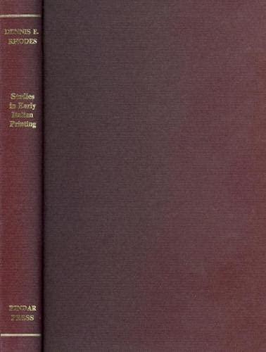 9780907132141: Studies in European Printing and Book-Collecting: Selected Studies (Studies in the History of Printing)