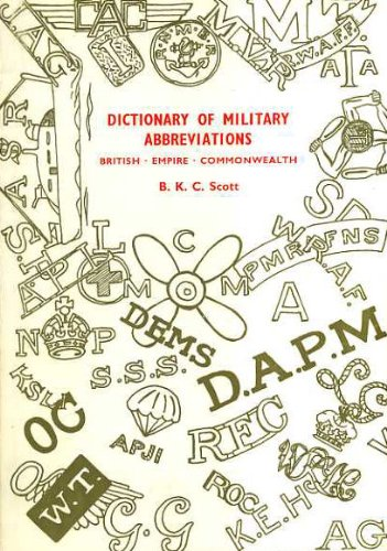 9780907221012: Dictionary of Military Abbreviations: British, Empire, Commonwealth