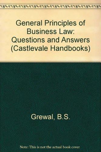 9780907235064: General Principles of Business Law (Castlevale Handbooks)