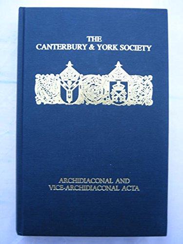 Twelfth-Century English Archidiaconal and Vice-Archidiaconal Acta: Kemp (ed)