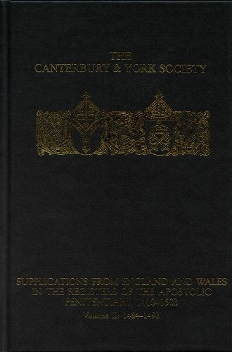 9780907239772: Supplications from England and Wales in the Registers of the Apostolic Penitentiary, 1410-1503: Volume II: 1464-1492 (104)