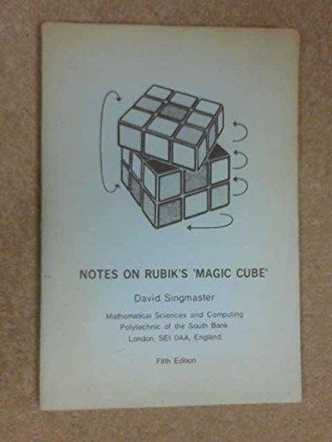 "9780907395003: Notes on Rubik's ""Magic Cube"""