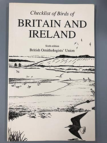 9780907446156: Checklist Of Birds Of Britain And Ireland