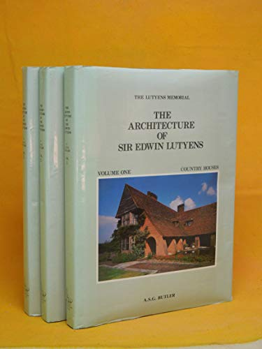 9780907462729: The Architecture of Sir Edwin Lutyens