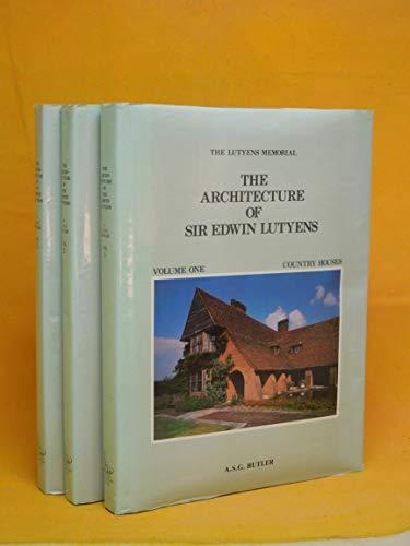 9780907462729: The Architecture of Sir Edwin Lutyens (3 Volume Set)