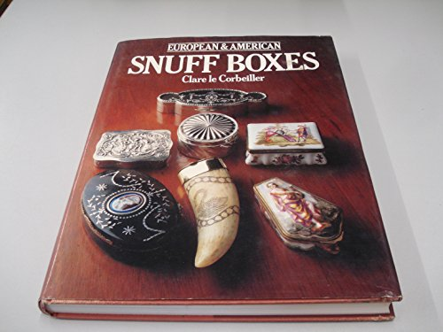 9780907486299: European and American Snuff Boxes, 1730-1830