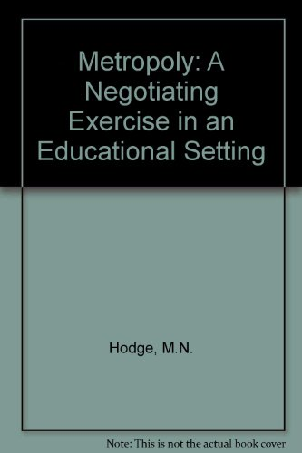 9780907550211: Metropoly: A Negotiating Exercise in an Educational Setting