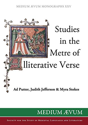9780907570189: Studies in the Metre of Alliterative Verse (Medium Aevum Monographs)