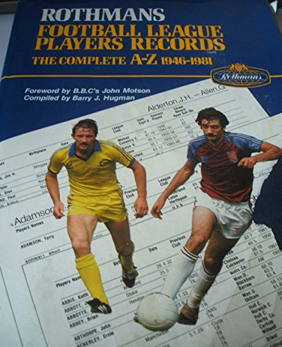 9780907574088: Rothman's Football League Players' Records