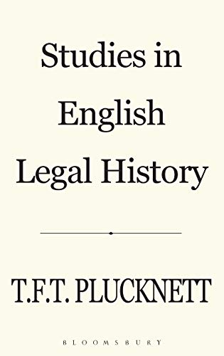 9780907628118: Studies in English Legal History (History Series, 14)