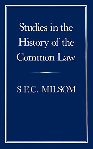 9780907628613: Studies in the History of the Common Law