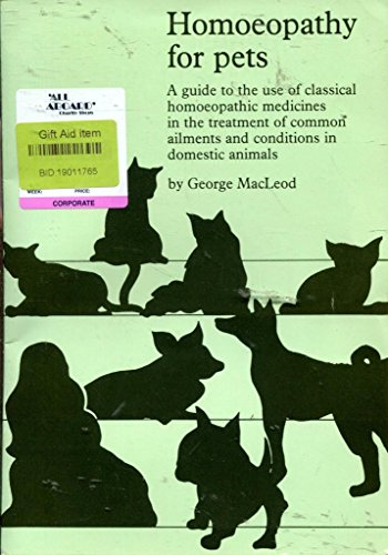 9780907688006: Homoeopathy for pets