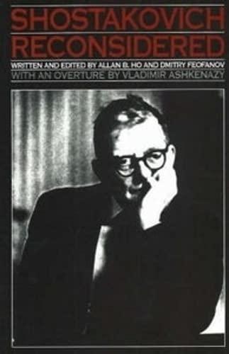 Shostakovich Reconsidered: Allan B. Ho