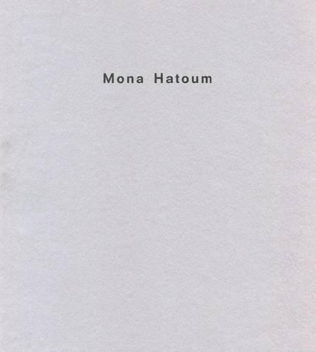 9780907738336: Mona Hatoum