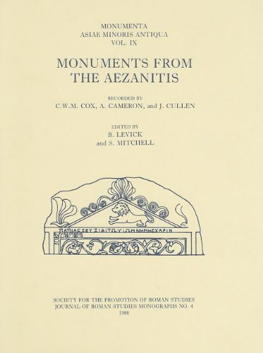 9780907764106: Monumenta Asiae Minoris Antiqua (MAMA) IX: Monuments from the Aezanitis (Journal of Roman Studies Monograph) (v. 9)