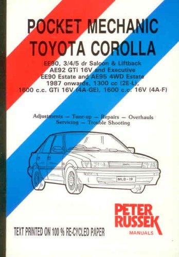 9780907779629: Pocket Mechanic for Toyota Corolla All Models, 1988-90