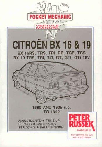 9780907779827: Pocket Mechanic for Citroen BX 1600/1900: All Models to 1990