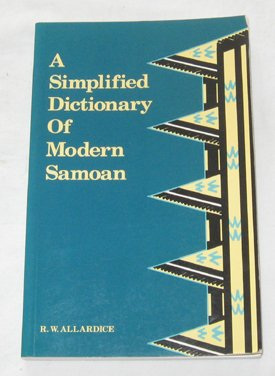 9780908597024: A Simplified Dictionary of Modern Samoan (Polynesian Press)