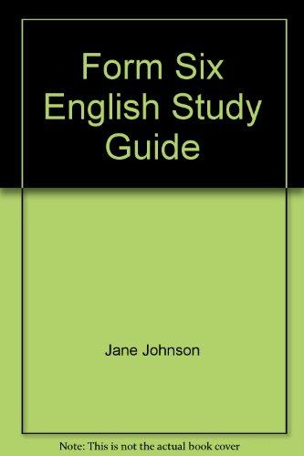 9780908756193: Form Six English Study Guide