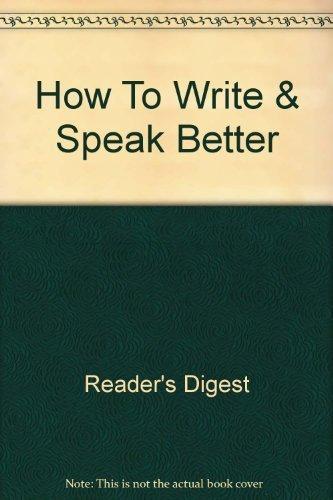 9780909486280: How To Write & Speak Better
