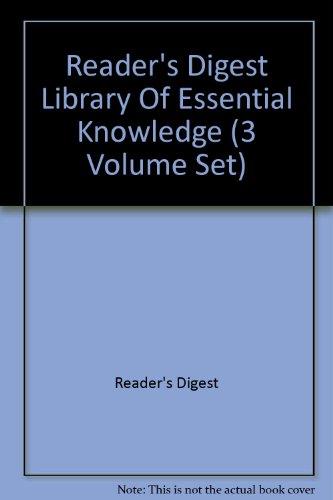 9780909486693: Reader's Digest Library Of Essential Knowledge (3 Volume Set)